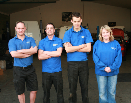 Chelworth Garage staff